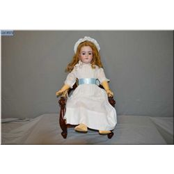"""28"""" Handwerck 119-13 bisque head doll on composition body, sleep eyes, open mouth, good bisque, no c"""