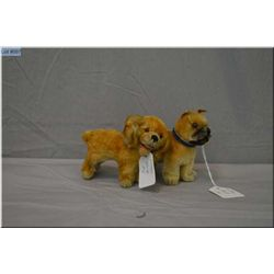 """Two vintage Steiff dogs 5"""" in length each"""