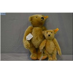 """Two Steiff jointed teddy bears including 12"""" with growler and 8"""" bear"""