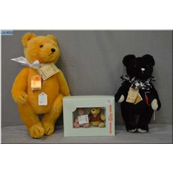 """Two limited edition Hermann jointed teddy bears including 16"""" golden coloured bear with growler, and"""