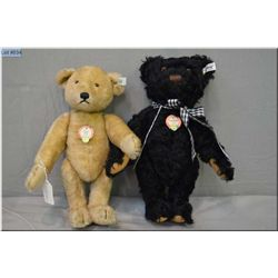 """Two Steiff jointed bears including Petsy #192812"""" caramel coloured jointed bear and ?Teddybar? 1953"""