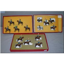 """Three boxes of Langely Models metal soldiers """"Boys of the Old Brigade"""" mounted horseman"""