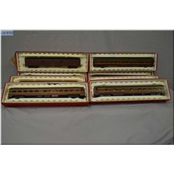 Selection of HO gauge rolling stock including eight Rivarossi Pennsylvania passenger car, baggage an