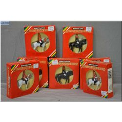 Seven boxed Britain?s Metal Model mounted soldiers