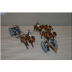A selection of Britain?s metal soldiers including Britain?s gun team with ten figures, six horses, f