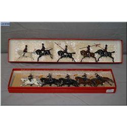 """Two boxes of Britain?s metal soldiers """"The Thirteenth Duke of Connaught's Own Lancers"""""""