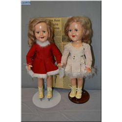 """Two Reliable 15"""" Barbara Ann Scott dolls, one in original outfit, one in replaced outfit plus a news"""