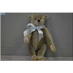"""A Steiff 12"""" grey jointed bear with growler"""