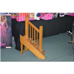 Wooden staircase perfect for doll display