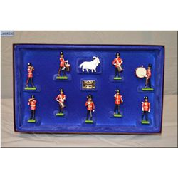 """A box of Britain?s metal soldiers limited edition """"Royal Welsh Fusiliers"""" #002922"""