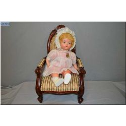 """20"""" Reliable baby precious composition doll with stuffed body, tin sleep eyes, mint condition origin"""