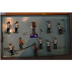 """Box of limited edition Britain?s metal soldier """"Bahamas Police Band"""" #459993"""
