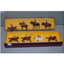 """Box of Britain?s metal soldiers """"First Central Indian Horse"""" riders, and a box of Johillico metal so"""