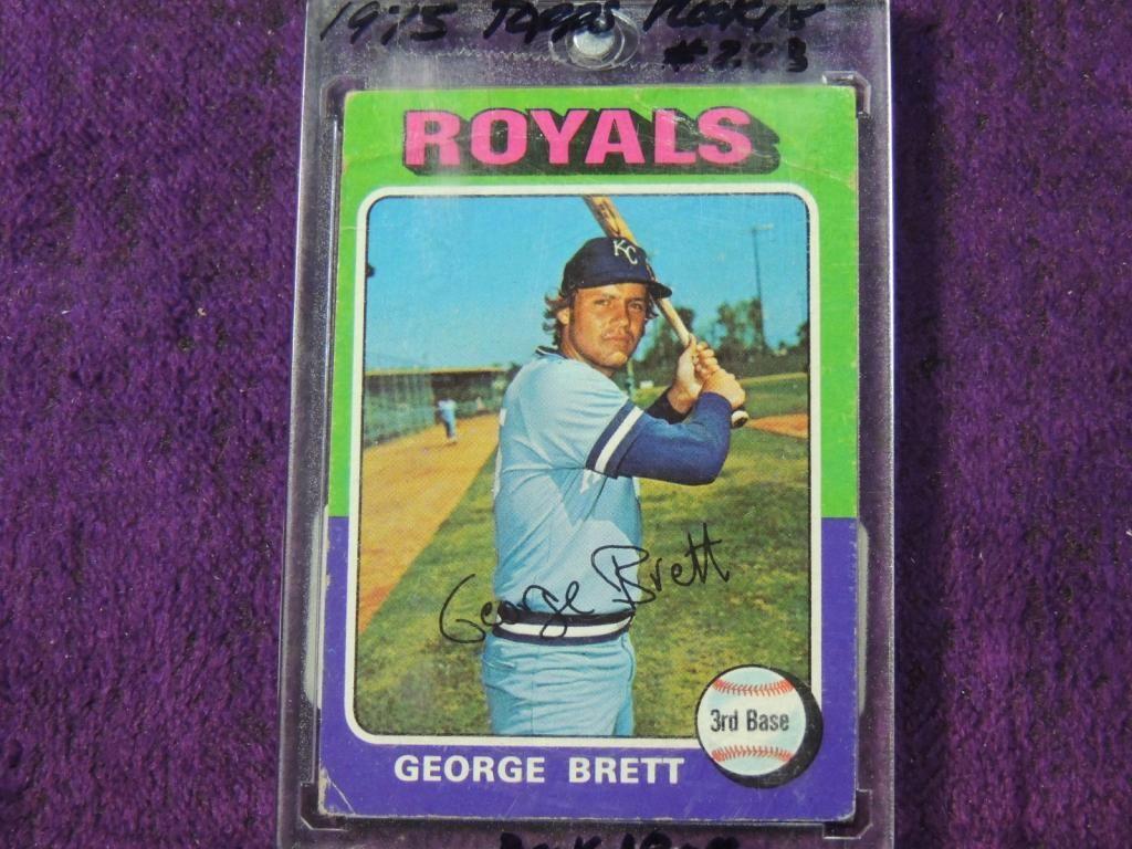 1975 Topps George Brett 228 Baseball Card
