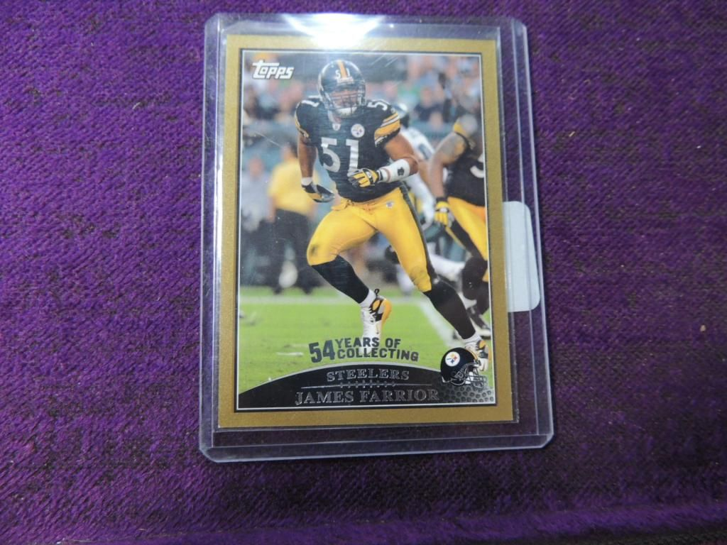 sports shoes 5d1c5 2f5a2 TOPPS JAMES FARRIOR FOOTBALL CARD