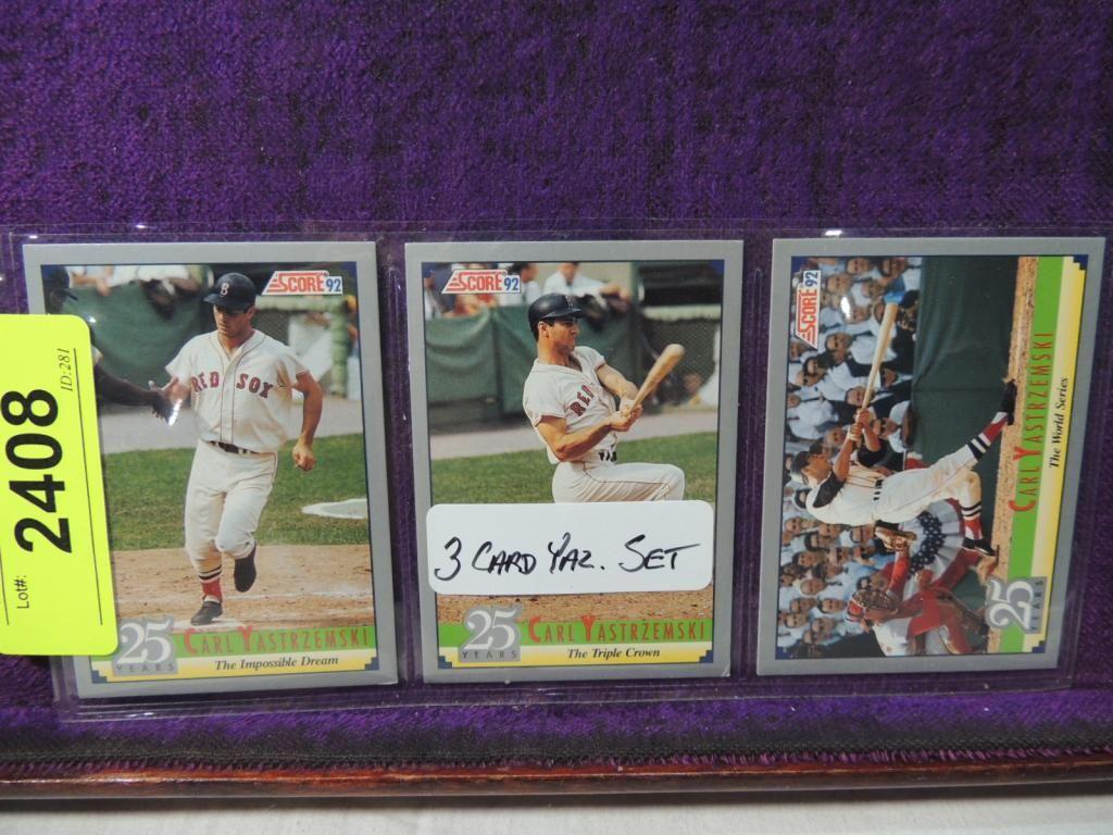 Lot 3 Carl Yastrzemski Baseball Card Set