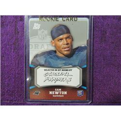 2011 Topps Cam Newton Rookie Football Card