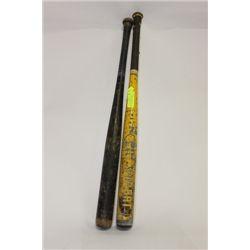 TWO(2) VINTAGE LOUISVILLE SLUGGER BASEBALL BATS