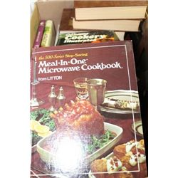 BOX OF COOKING BOOKS