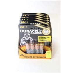BOX OF 28 DURACELL AA BATTERY'S