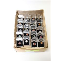BOX OF 20 NATURAL STONE LADIES RINGS