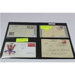 2 SHEETS OF 4 WW2 COVERS X2
