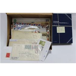 ESTATE COLLECTION OF COVERS STAMPS AND COINS
