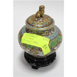 CHINESE CLOISONNE GINGER JAR