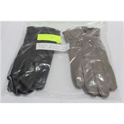 2 PACK OF LADIES LEATHER GLOVES ON CHOICE: SIZE S