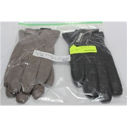 2 PACK OF LADIES LEATHER GLOVES ON CHOICE: SIZE L