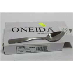 BOX OF 3 DOZEN ONEIDA COMMERCIAL GRADE TEASPOONS