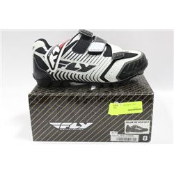 PAIR OF FLY RACING BIKING SHOES ON CHOICE: SIZE 8