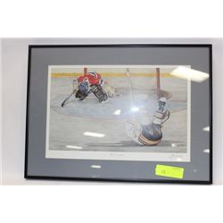 JOHN NEWBY SIGNED HOCKEY PRINT ON CHOICE: