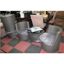 NEW STACKABLE 5 PC PATIO FURNITURE SET