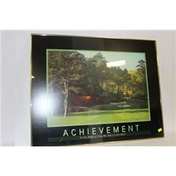 ACHIEVEMENT FRAMED POSTER