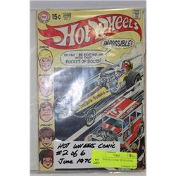 HOT WHEELS COMIC #2 OF 6 JUNE 1970
