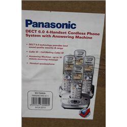 PANASONIC 4 HANDSET PHONE SYSTEM