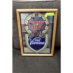 ESTATE OLD VIENNA MIRRORED BEER CLOCK