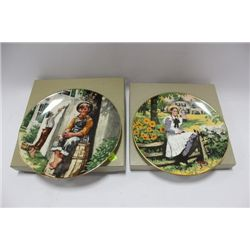 ESTATE PAIR OF PORCELAIN COLLECTOR PLATES ON
