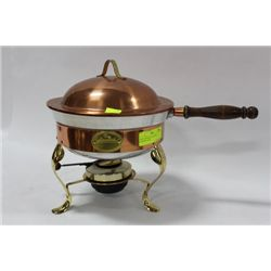 CHEZ GOURMAND COPPER CHAFING DISH