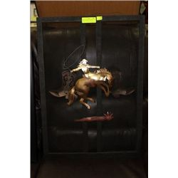 COWBOY FIREPLACE COVER