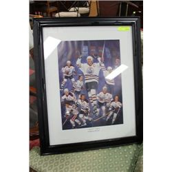 CAPTAINS LEGACY FRAMED OILERS PICTURE