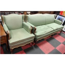 FRENCH PROVINCIAL SOFA W CHAIR