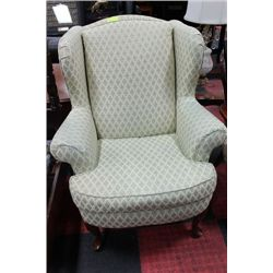 FABRIC WING BACK PARLOUR CHAIR