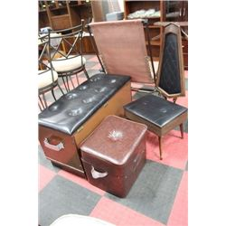 STORAGE TRUNK SOLD W STOOL AND VALET SEAT