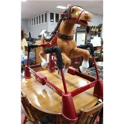 FLEXIBLE FLYER SPRING ROCKING HORSE ON STAND