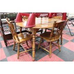 MAPLE TABLE W 4 SIDECHAIRS AND LEAF