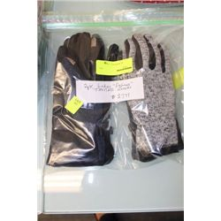 PK OF 2 LADIES DELUXE TEXTING GLOVES