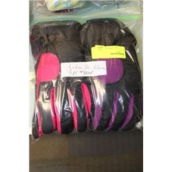 PK OF 2 LADIES SKI GLOVES