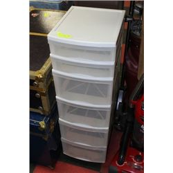 6-TIER GRACIOUS LIVING STORAGE CONTAINER ON WHEELS